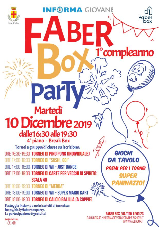 Faber Box Party